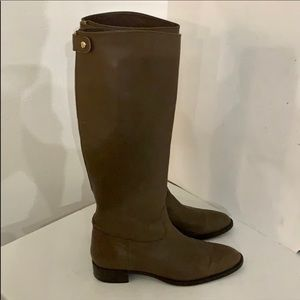 Authentic J. Crew tall leather boots Sz 10